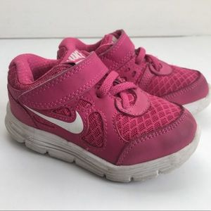 Nike Lunar Forever Pink & White Sneakers 5.5
